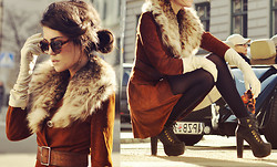 Mira Berglind - Vintage Suede Coat, Vintage Fur, Gloves / Hestra, Jeffrey Campbell Shoes / - HEY, I HEARD YOU WERE I WILD ONE