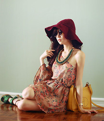 Kryz Uy - Wagw Floppy Hat, Closet Goddess Floral Dress, Island Girl Necklace, Wagw Sunnies - Thing of the Past
