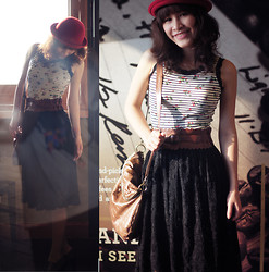 Zen Huo - Made By Me Tank Top Strawberry, Made By Me Lace Skirt - Hey summer, why you come so early, I want more spring breeze