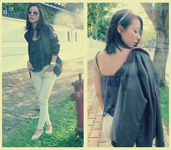 K'im Possible - Zara Leather Jacket, Forever 21 Forever2's Tee, Gap Legging Jeans - Now There Is Time. And Time Is Young.