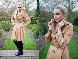 Anna Connelly - Primark Trench, Zara Top, Topshop Belt, Zara Trousers, Tory Burch Boots - April Showers...