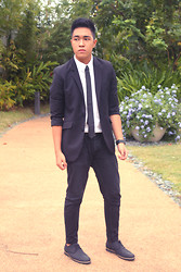 Lorenzo Paolo Garcia - H&M Black Blazer, H&M White Dress Shirt, Pierre Cardin Tie, Topman Black Pants, Forever 21 Oxfords - Be good or be good at it.