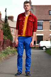 Rob Evans - Topman Overshirt, H&M Jumper, H&M Pants, River Island Shoes - Colour Block