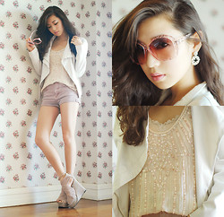 Kryz Uy - Tfnc London Beaded Top, Wagw Crystal Sunglasses - Wallflower
