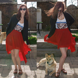 Rebecca K - Skirt, H&M Beatles Tee, Wilfred Cardigan - Bright shiny morning