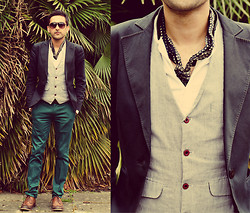 Nikhil Sharma - Vintage Jacket From Berlin, Self Designed Waistcoat, The Kooples Shirt, Topman Shirt - H a p p y h o u r s w e e t a n d s o u r