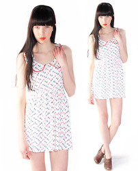 Elena Braun - Mod Dolly Fiona Jersey Sailor Print Dress - Anchors aweigh for spring!!!