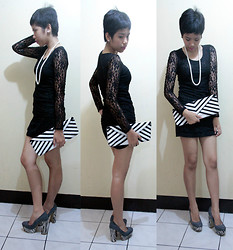 Dana Dela Torre - Lace Dress - Short hair polish off obvious femininity exchange with style