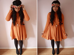 S Z - Asos Dress, New Look Headband, Topshop Necklace, New Look Wedges - Mellow