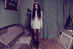 Violet Ell - Charlotte Rouge Studded Dress, Tuk Creepers, Diy Socks - 03.03.2012