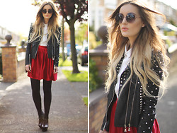 Anouska Proetta Brandon - Storets Jacket, Urban Outfitters Shoes, Chic Wish Shirt, Chic Wish Skirt - Midnight City