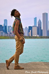 DeShawn Hollywood - Thrift Store Vintage Button Up, Topman Drop Crotch Khaki Pants - Chicago Land