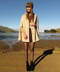 Amy Dunn - Vintage Cream Cape, Suede Riding Boots - Capers