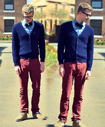 Rob Evans - Zara Shoes, New Look Cardigan, Thrifted Shirt, Primark Chinos - Sometimes I wish...