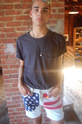 Jackson Teague - Topman White Denim Shorts - Chill, hot azz day look