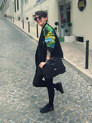 Raquel Loureiro . - Versace Bomber Jacket, Primark Skirt, Zara Bag, H&M Sneakers - Watch the Throne