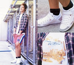Seph Cham - Cps Chaps Shirt, Celio Polo And Shorts, Aldo Socks, Call It Spring Sneakers - Sunny disposition - Seph