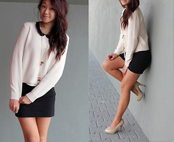 Janiie Pham - H&M Nude Sweater, H&M Collar Blouse, H&M Black Pencil Skirt, Nude Pumps - Sweet sweet melody