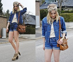 Frida Johnson - Jacket, Top, Bag - DARK DENIM <3