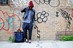 Kadeem Johnson - James Perse Sweater, All Saints Pants, Comme Des Garçons Shoes - Welcome Back
