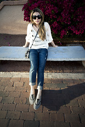 Kristy Eléna - 7 For All Mankind Boyfriend Jeans, Rebecca Minkoff Small Purse, Rebecca Minkoff Bowery Sunglasses, Reef Sunset Shoes - .tempe, arizona