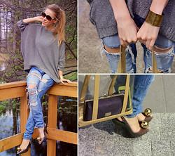 Ann O. - Second Hand Jeans, Vivienne Westwood Heels - DESTROYED