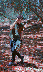 Nico Marino - Stranded Graphic Tee, Stic Crossbody Messenger Bag, Levi's® Black Denizen, Aldo Military Style Lace Up Calf High Boots - A Deserter, Lost