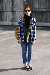 Veera Vehmasaho - 2nd Hand Flannel Shirt, Vans Shoes - WINDY