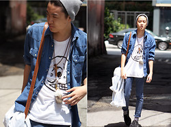 Jason Glam Pham - Wrangler Denim, Cheap Monday Shirt - CHEAP