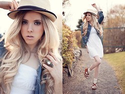 Jessy Gosselin - Vintage Hat, Aldo Ring, H&M Military Vest, Steve Madden High Heels - Summer breeze