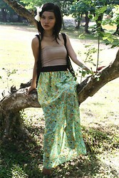 Joy Wilgin O. - Arf Floral Maxi, My Mix Heart Shaped Tube Top - Tiny Bitsy Forest Nymph