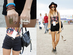 Patricia Prieto - Forever 21 Hat, Topshop Corset, Topshop Bag, American Apparel Shorts, Topshop Boots - MMF