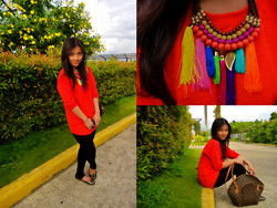 Ganna Athena G - Mosaic Top, Zara Leggings, Aldp Necklace, Sugar Kissed Tassel Necklace - I'm Sorry It Didn't Rain