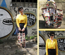Melis Us - Harrods Teddy Bear Bag, Oxxo Yellow Blouse, Berskha Sunglasses - The Yellow