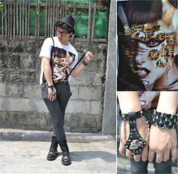 Shane Chua - Diy Studded Boots, H&M Suspenders, For Paul J. Hand Harness - Guys Go Gaga