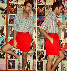 Ro Covarrubias - Zara Cotton Shirt, Vintage Shop Red Shorts, Vintage Shop White Espadrilles - So Simple, So Classy