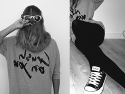 Jamie The Hunter - H&M Crush On You Sweater, Converse Allstars - CRUSH ON YOU