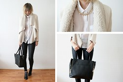 Sietske L - Minusey Necklace, Chic Wish Waterfall Jacket, Romwe Bag, Romwe Shoes - They disappear.