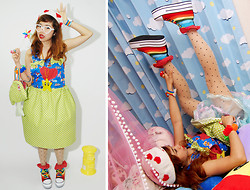 Kaila Ocampo - Super Mario Bros. Overall By Kaila, Rainbow Shoes, Diy Mushroom Bag - The Rainbowholic Me