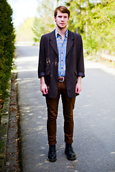Martin Bohm - Dr. Martens Docs, Cheap Monday Chinos, Vintage Jacket, Vintage Shirt - Ignite