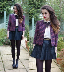 Arabella G - Boucle Jacket, Bow Tie - Better this time