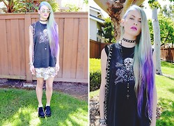 Seaghna Wilson - Thrifted Tank, Vintage Beaded Vest - I am not a robot