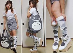 Kaila Ocampo - Diy Totoro Shirt, Bodyline Rocking Horse Shoes, Harajuku Totoro Bag - ♫ ♪ ♫ TO-TO-RO TOTOROOO ♫ ♪ ♫