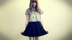 Sarah Hawkinson - Stylemint Tee Shirt, Forever 21 Collar, Urban Outfitters Skirt - Am I too soon