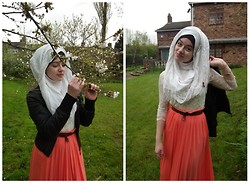 Lina Hussein - New Look Lace Top, Atmosphere Maxi Skirt, A Gift Hijab - Grow Me A Garden of Roses.