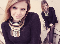 Moustachic ♡ - Zara Necklace, Calvin Klein Knit - The egyptian necklace