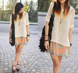 Alyssa Lau - Mexy Knit Sweater, Love Paisley Dress - YOU AND YOUR HEART
