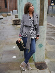 Irena D - Bought In Spain Jacket, H&M Shirt, Topshop Jense, Topshop Acrobat Padded Velcro Trainers, Chanel Bag - Rainy Days in Manchester