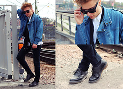 Dennis M. - The Local Firm Sunglasses, Dmretro.Se Jeans Jacket, Dior Homme Jeans, Dr. Martens Shoes - Get here if you can