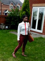 Adelaide Chitanda - Primark Loafers, Zara Bag, Primark Blouse, H&M Trousers - Where are you now? When I need you around
